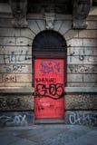 Streetart pink door stock images