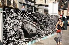 Streetart, Renn, Bretagne stock afbeelding