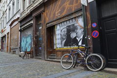 Streetart w Bruksela, Belgia Obraz Royalty Free