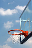 Streetball. A basketball net whit blue sky on background Royalty Free Stock Images
