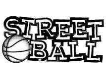 Streetball stock abbildung