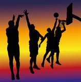 Streetball background Stock Image