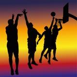 Streetball bakgrund Fotografering för Bildbyråer