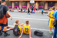 Streetball competition Royalty Free Stock Photography