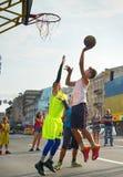 Streetball gracze Zdjęcie Royalty Free