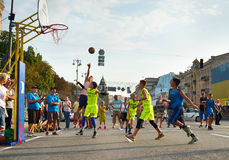 Streetball konkurs Obrazy Stock