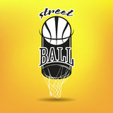 Streetball logo Royalty Free Stock Photos
