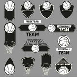 Streetball logo set Royalty Free Stock Images