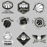Streetball logo set Royalty Free Stock Photos