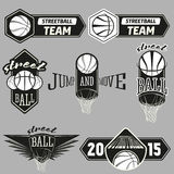 Streetball logo set Stock Photo
