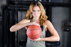 Streetball player Stock Photography