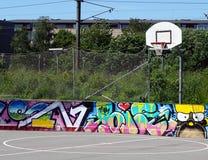 Streetball pole Obrazy Stock