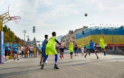 Streetball rywalizacja Fotografia Stock