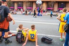 Streetball rywalizacja Fotografia Royalty Free