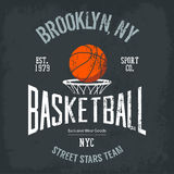 Streetball or urban sport team logo and banner Stock Photography