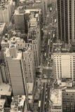 Streetblack e branco de New York City Manhattan Fotografia de Stock Royalty Free