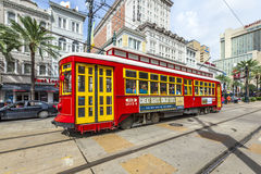 Streetcar on the Canal Street Line in New Orleans stock image