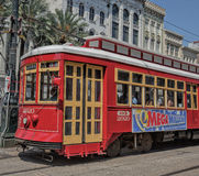 Streetcar on the Canal Street Line in New Orleans Royalty Free Stock Image