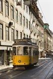 Streetcar in the City of Lisbon Stock Photos
