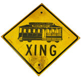 Streetcar crossing sign Stock Photography
