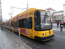 Streetcar in Dresden, Germany Stock Images