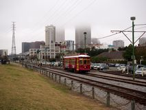Streetcar at the French Quarter stock image