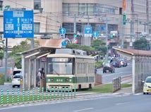 The streetcar in Hiroshima, Japan. Royalty Free Stock Photos