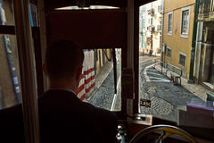Streetcar. Historic Streetcar in the city of Lisbon Royalty Free Stock Image