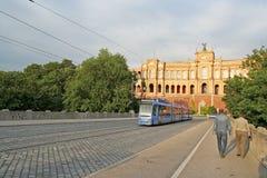 Streetcar In Munich Stock Photos