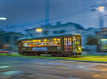 Streetcar Line St. Charles at night Stock Photos