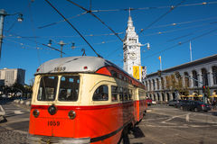 The streetcar of San Francisco Royalty Free Stock Photo