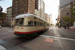 Streetcar in San Francisco Stock Image