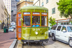 Streetcar on the St. Charles Street Line in New Orleans Royalty Free Stock Images