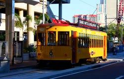 Streetcar in Tampa. Tampa Bay streetcar transit in downtown Tampa Stock Photos