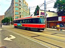 Streetcar in Toronto Stock Images