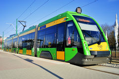 Streetcar Tramino in Poznan Poland Royalty Free Stock Photo