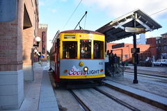 Streetcar in Ybor City Stock Photo
