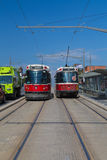 Streetcars Along St Clair West in Toronto Royalty Free Stock Photo