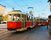 Streetcars in Bratislava Royalty Free Stock Photography