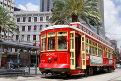 Streetcars in New Orleans royalty free stock images