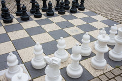 Streetchess at a square in the Netherlands Stock Images