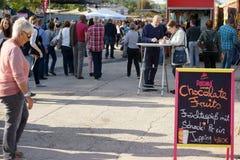 Streetfood节日美因法 免版税库存图片