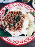 Streetfood del kaidaow del moosub del kaprow di Kaw immagini stock libere da diritti