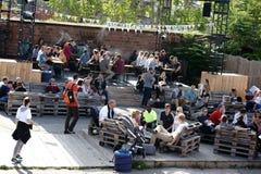 Streetfood festiwal Mainz Zdjęcia Royalty Free