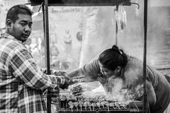 streetfood thaifood in amphawa Royalty-vrije Stock Fotografie