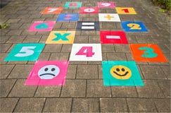 Streetgame for children on sidewalk Stock Images