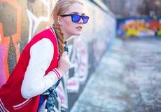 Streetgirl blond photo stock