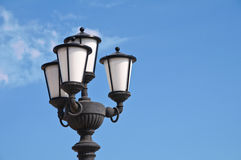 Streetlamp. Bari. Puglia. Italy. Royalty Free Stock Photo