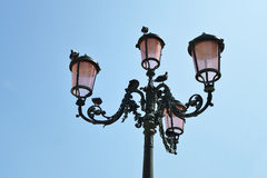 Streetlamp from below. On sky background Stock Photos