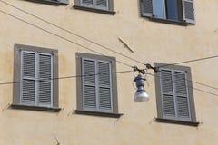 Streetlamp in Bergamo Royalty Free Stock Photos